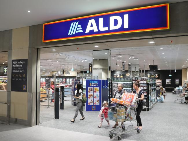 Aldi started in Australia 17 years ago with two stores in NSW, at Bankstown and Marrickville, has now expanded to more than 500 stores. Picture: David Swift/AAP