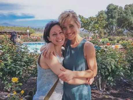 Lauren Salzman and Allison Mack. Picture: Instagram