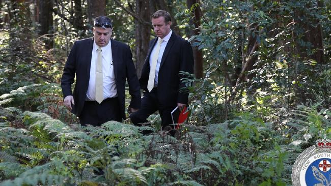 During the search, police located a number of bones believed to be human. Picture: NSW Police