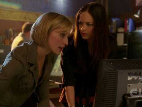 Kristin Kreuk and Allison Mack starred together in Smallville. Picture: Supplied