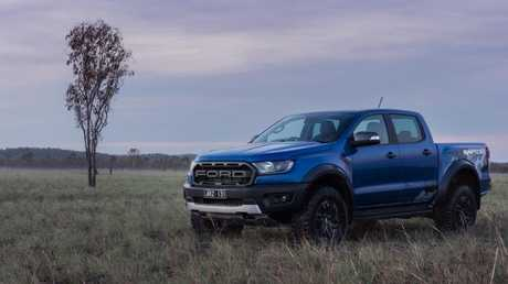 Off-road grunt: The Raptor is powered by a twin-turbocharged four-cylinder engine.