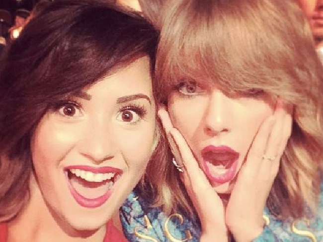 Demi Lovato with Taylor Swift. Picture: Instagram