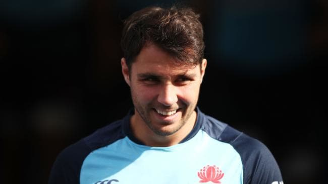 Nick Phipps during a Waratahs training session.