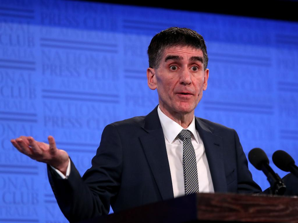 Federal President of the AMA Dr Tony Bartone addressing the National Press Club in Canberra. Picture: Kym Smith