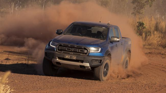 Rough stuff: Ford has kitted out the Raptor with numerous performance upgrades.