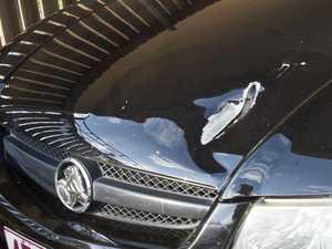 Damage to Alexander Kinman's Car