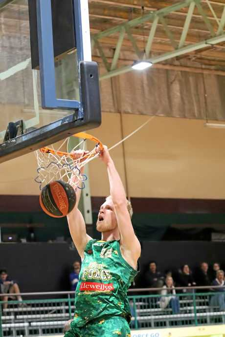 RISING TALENT: Ipswich Force basketballer Mitch Poulain is benefiting from receiving more valuable time in the state league.