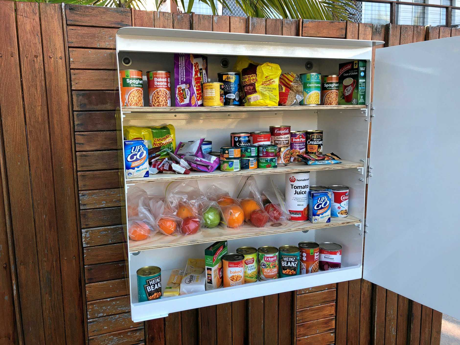 Natalie Tynan-Barnes opened the Free Little Pantry in Golden Beach over the weekend and says she's received lots of support from the community.