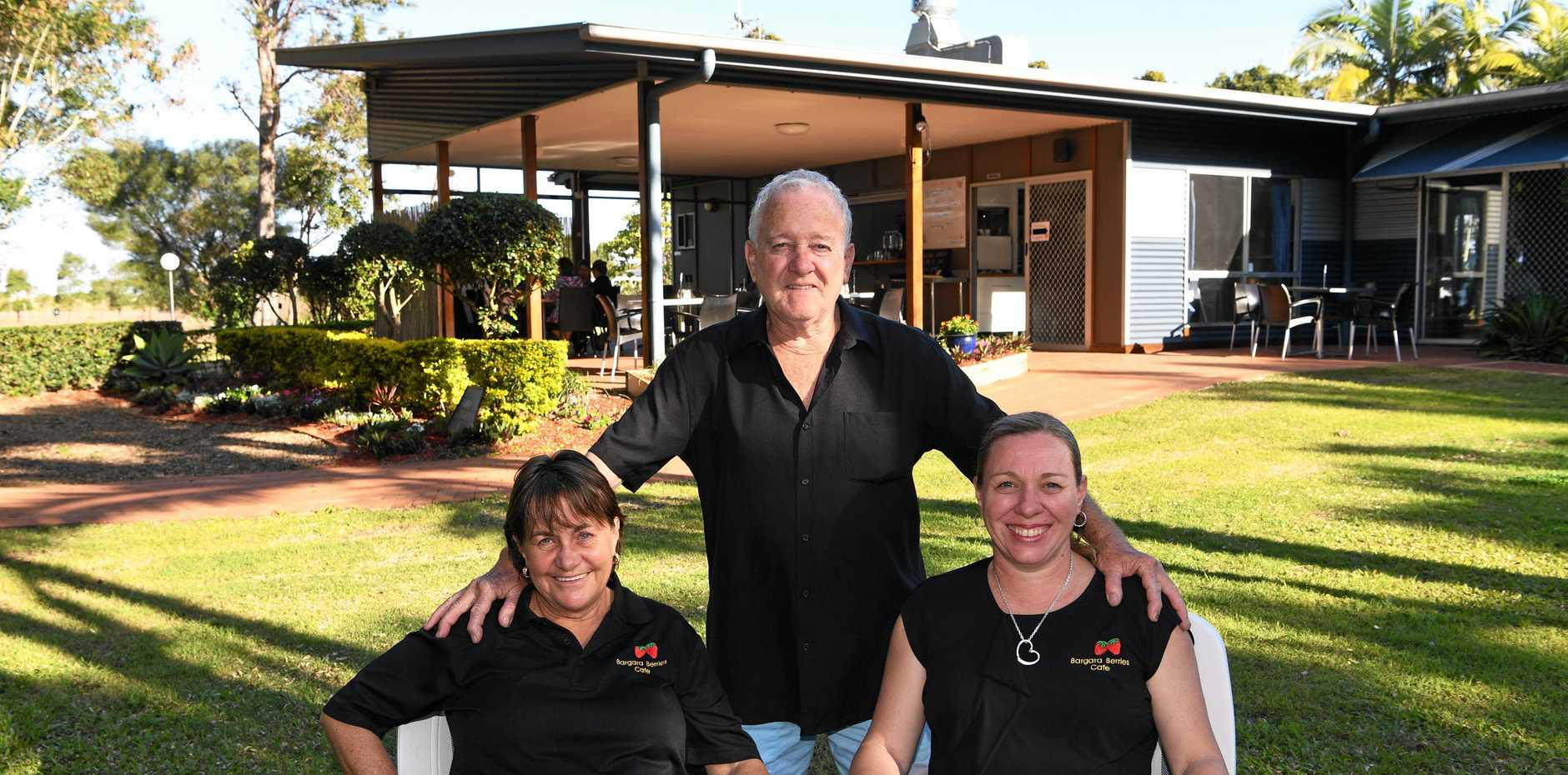 COME ON IN: Lynn Hay, Bob Hay and Vicki Hay have reopened Bargara Berries Bar and Cafe after more than eight years out of the restaurant business. Mr Hay said he wanted to resurrect the cafe and fix it up to its former glory.