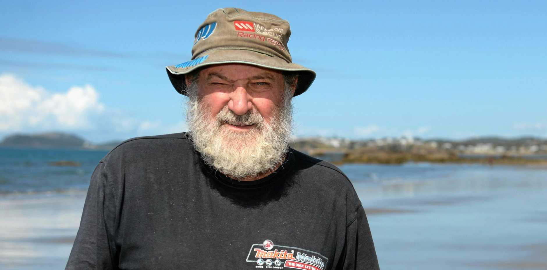CHANGING CLIMATE: Capricorn Coast's 'Pirate Pete' Martin is taking the issue in his stride.