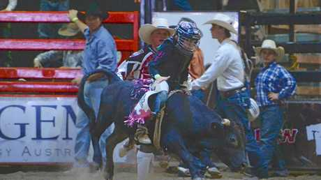 Caydence Fouracre is the only Australian female who will compete in the Youth Bull Riders World Finals.