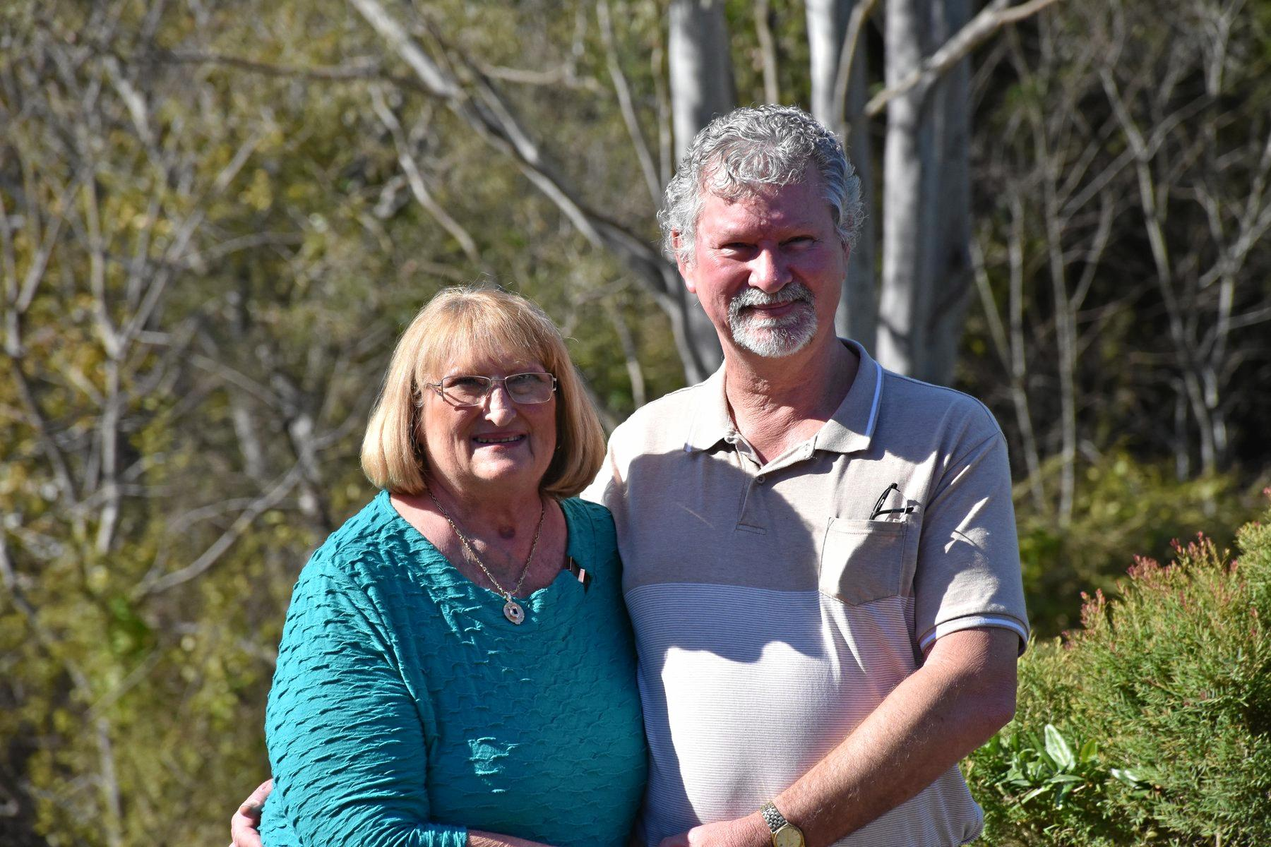 ALL HEART: Brassall grandmother Lyndall Schloss, a heart transplant recipient is helping raise awareness for DonateLife Week, which starts on Sunday. Pictured with her husband Russell.