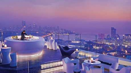 The glamorous side of Mumbai at a rooftop bar. Tata Consultancy Services, based in the city, has made the short list.