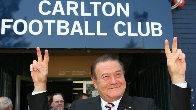 Dick Pratt took over as Carlton president from Graham Smorgon.