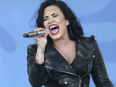 Demi Lovato performs on Good Morning America. Picture: AP