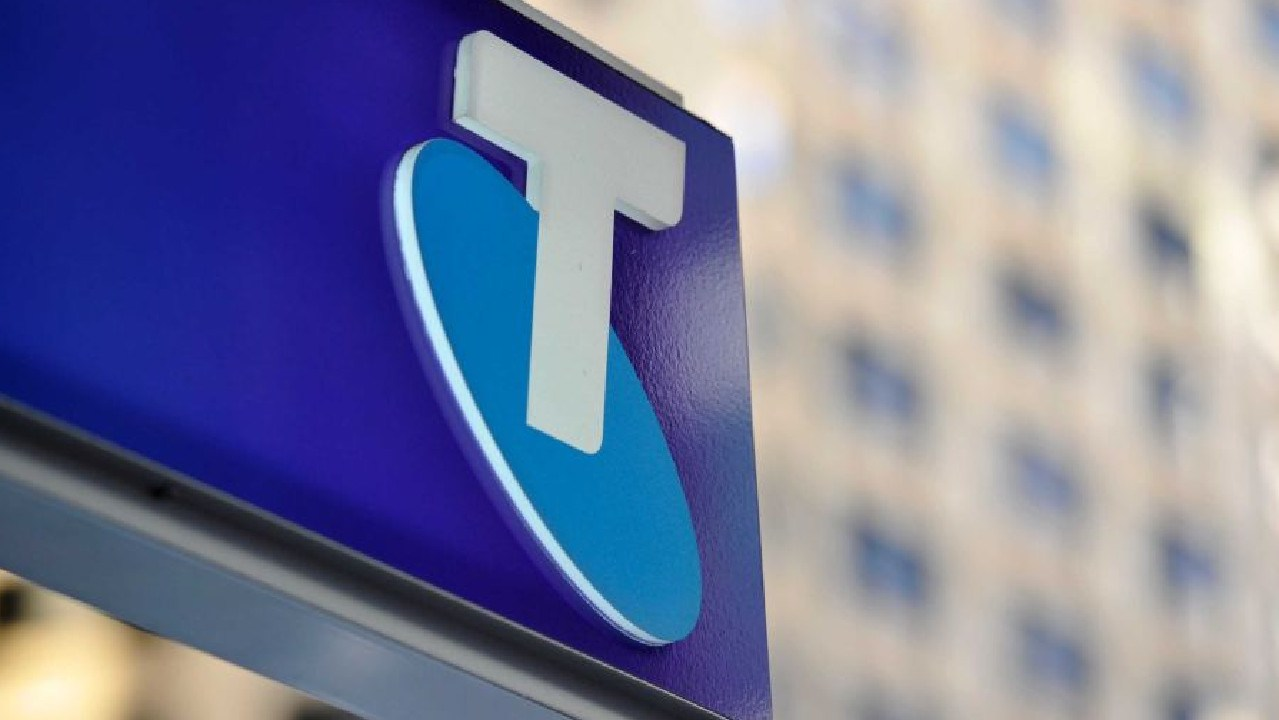 Telstra shares at 3-month high despite profit drop.