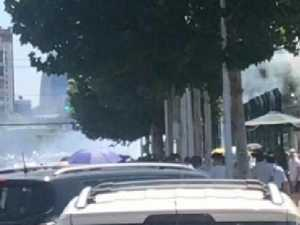 Bomb hits China's US embassy