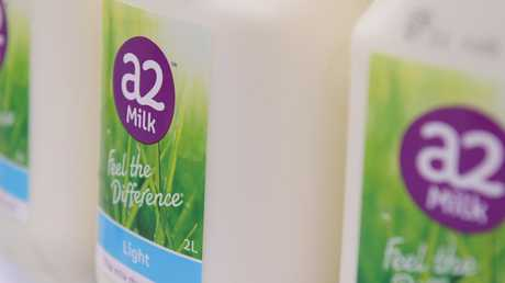 Australian owned A2 milk has been a huge success. Picture: AAP Image/Tracey Nearmy