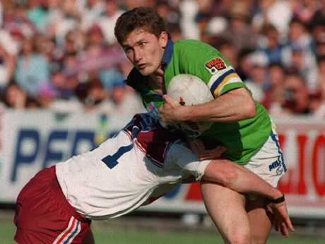 Brett Mullins in action for Canberra.