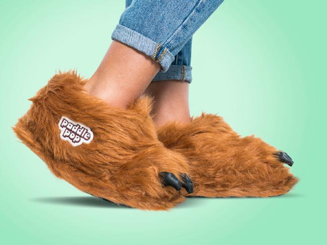 Some lucky folk will become the proud owners of these Paddle Pop Lion slippers.