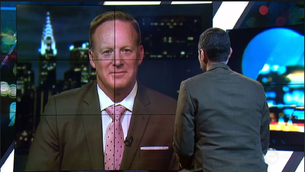 Aly gave Mr Spicer a grilling on Thursday night's episode of The Project. Picture: Channel 10