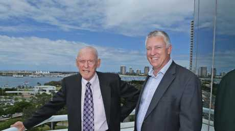 John Zupp, left, and Neil Ferguson from Zupp Property Group. Picture: Luke Marsden