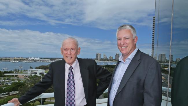 John Zupp, left, and Neil Ferguson from Zupp Property Group. Picture: Luke Marsden
