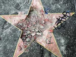 Donald Trump's Hollywood star vandalised with pickaxe