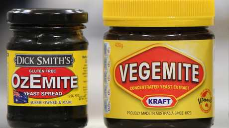 Dick Smith's Ozemite has something of a resemblance to its bigger, and now Aussie-owned, rival. Picture: Calum Robertson