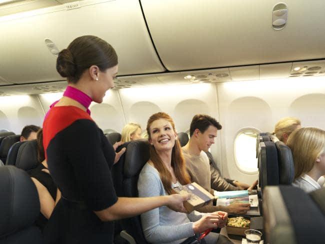 Wine please. I think I love you. Picture: Qantas