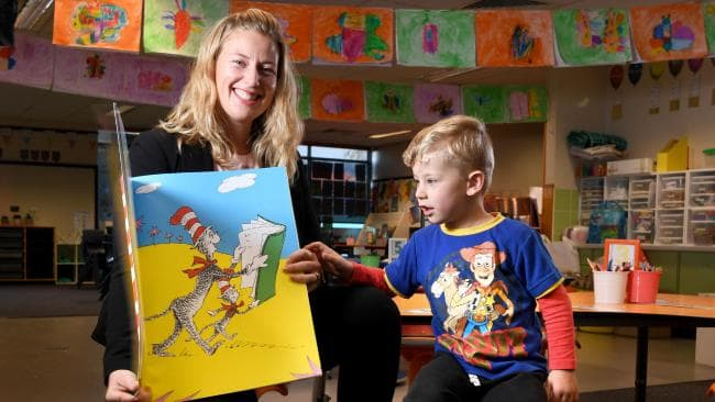Tara Clarke, pictured with son Levi, is a teacher at Allenby Gardens Primary School. Education and training workers are among those with increasing salaries. Picture: Tricia Watkinson