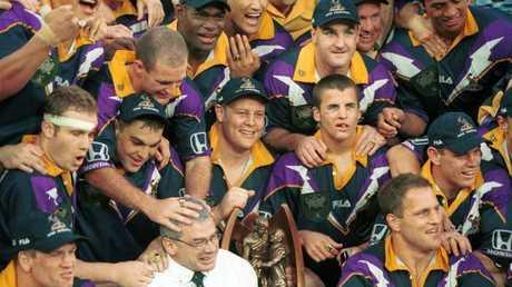 Glenn Lazarus led Melbourne to glory in 1999. (Gregg Porteous)