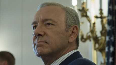 Kevin Spacey as Frank Underwood in the popular Netflix series House Of Cards.