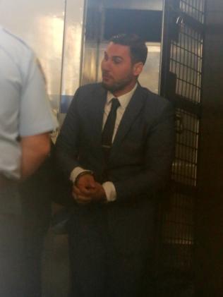 Salim Mehajer in handcuffs. Picture: John Grainger.