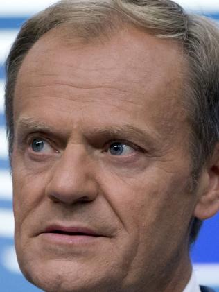 EU President Donald Tusk said help is on the way. Picture: AP
