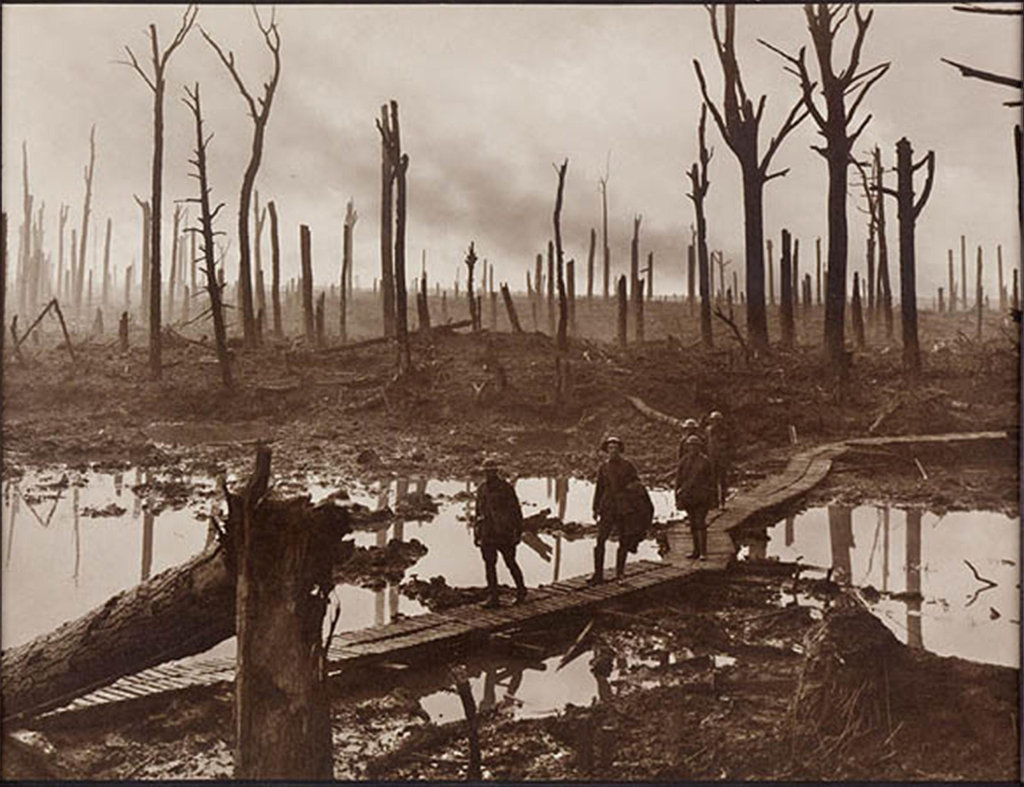 Captain Frank Hurley's iconic war images, such as this one taken in France in 1917, captured the imagination of Australians in the early 20th century. Toowoomba's Mail. November 2010.