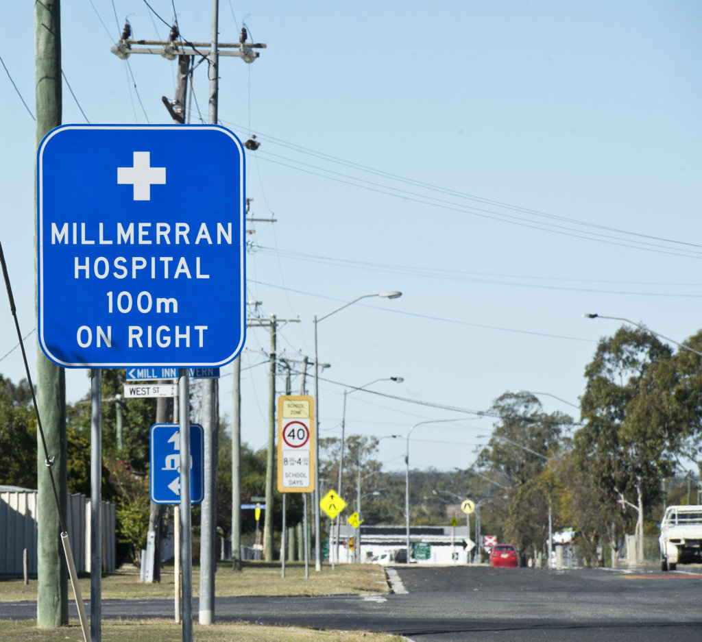 Millmerran Hospital sign. Saturday, 14th Jul, 2018.