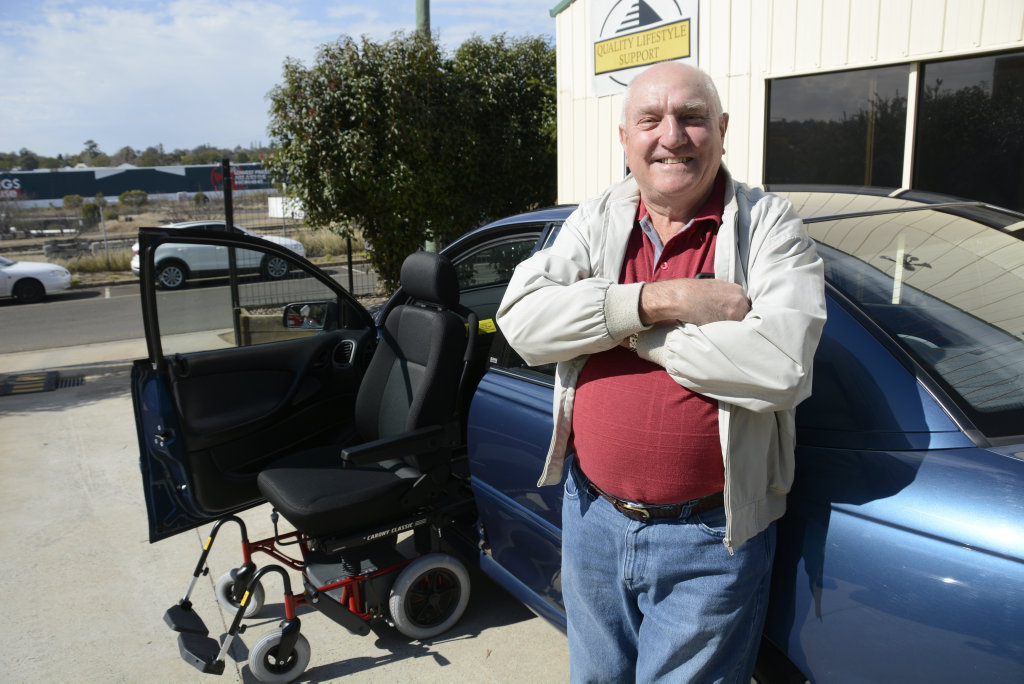 GENEROUS: Toowoomba retiree Nev Siebenhausen has donated his late wife's customised car, complete with convertable passenger seat, to Quality Lifestyle Support.
