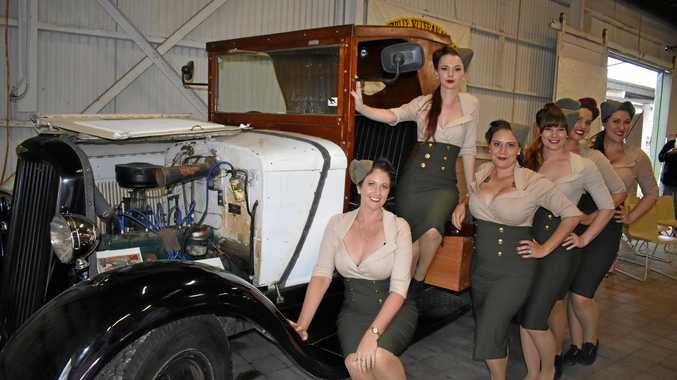 The old Dodge truck with the Scarlett Dolls.