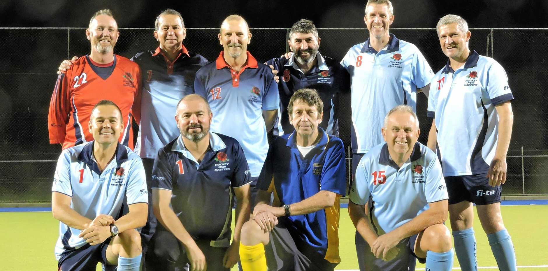MIGHTY MASTERS: Those selected include (back) Dale Neaves, Keith Jervis, David Rake, Paul Mills, Scott Waddell, Dave Dedman; (front) Jonathan Williams, Adam Ellison, Phil Grant and Kerry Wide.