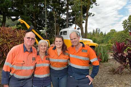 Clayton's Towing have been operating on the Sunshine Coast for 48 years and is still going strong. Mike Clayton is pictured with his parents Bill and Mary and daughter Bethany.