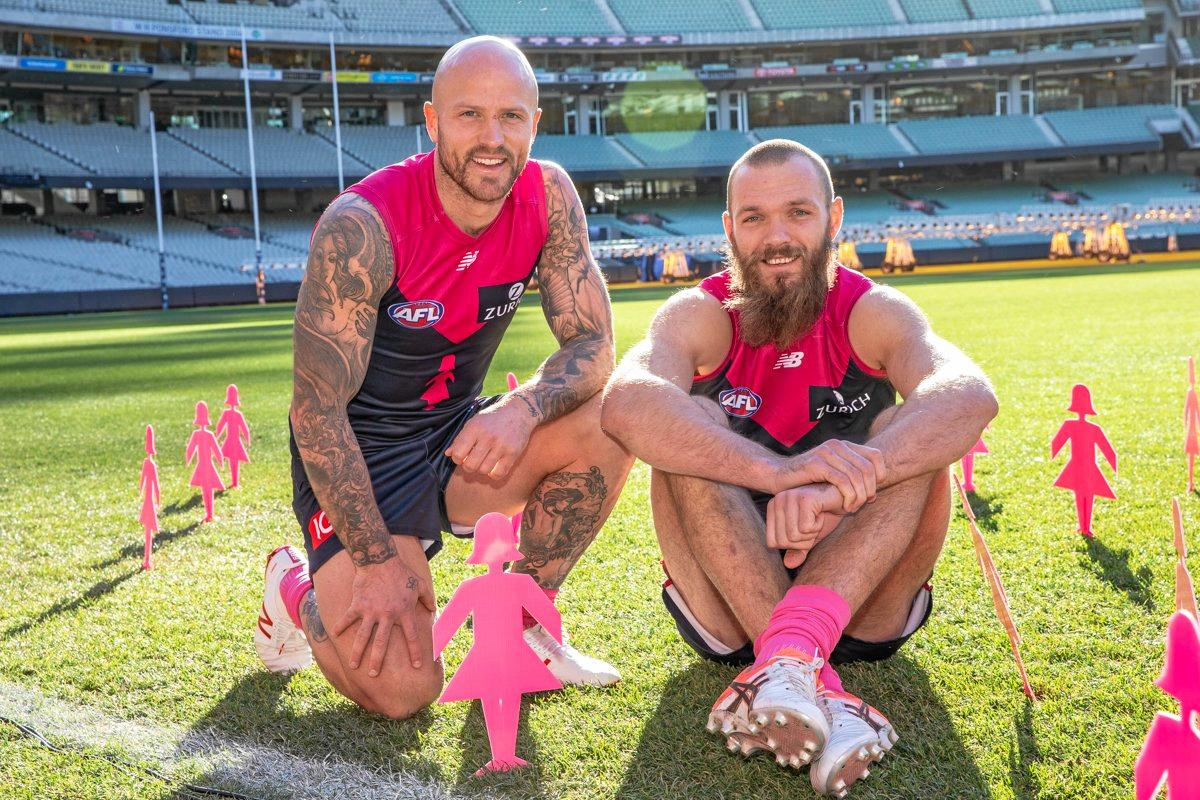 Melbourne Demons' Nathan Jones and Max Gawn will be going up against Sydney Swans after MCG's Pink Lady event.