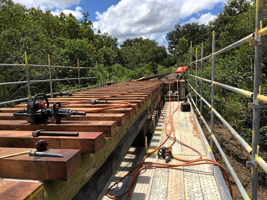 Works on Deep Creek Bridge.