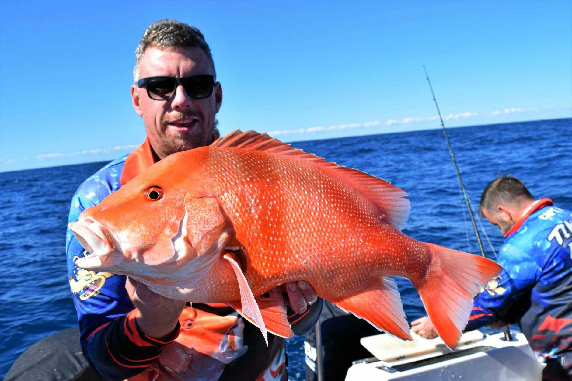 The Crews on Rainbow Escape Charters fished the reefs off Double Island with a nice red emperor taken last weekend.