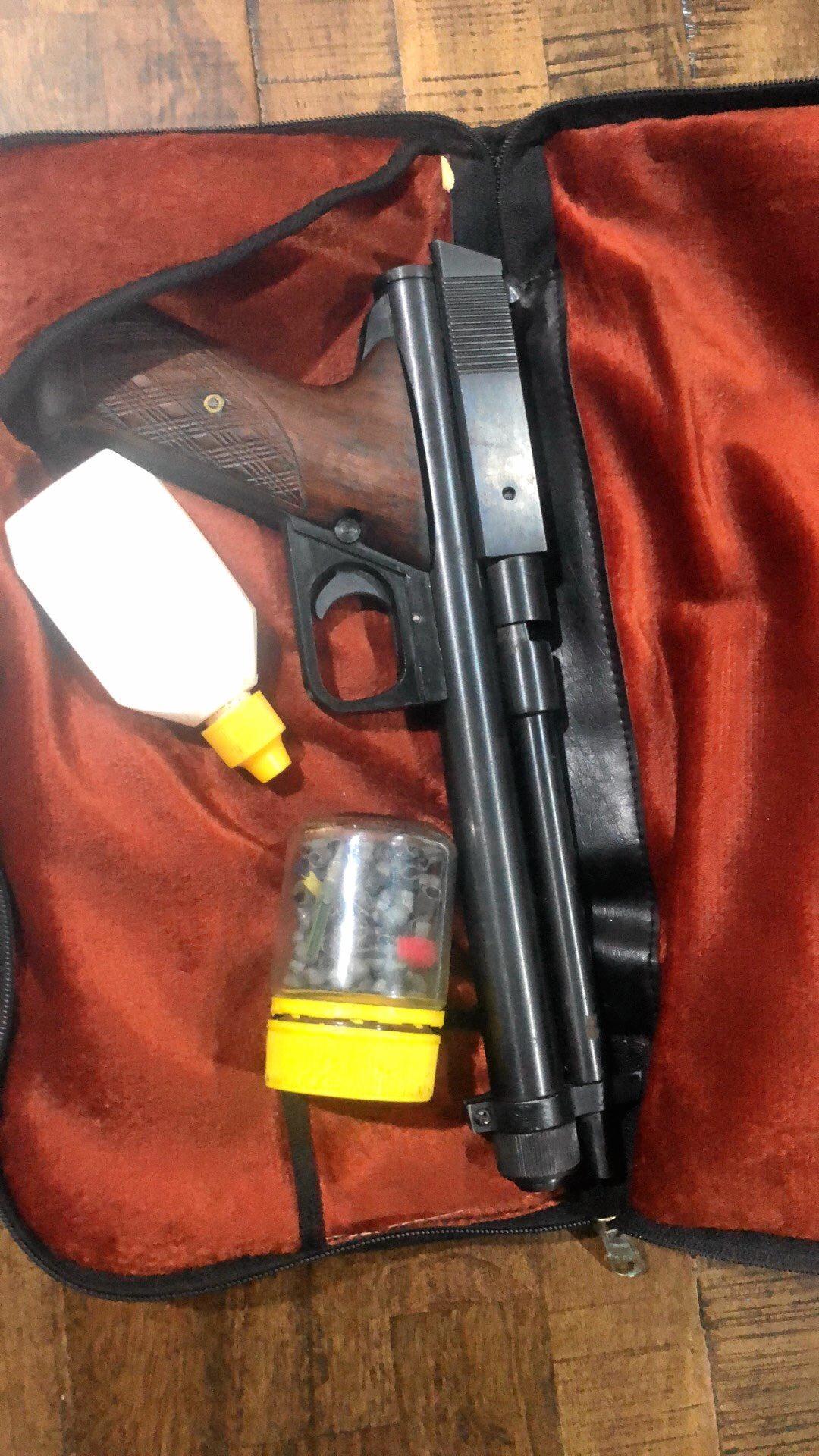 A BB gun and drugs.