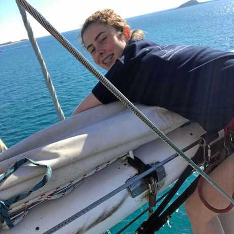 James Nash State School student Jacinta Olsen enjoying the ocean adventure.