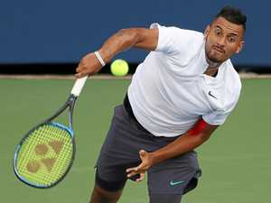 Kyrgios rocks up to match without shoes