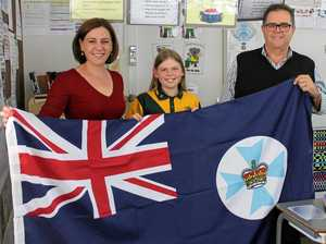 Year 6 student secures state flag for school