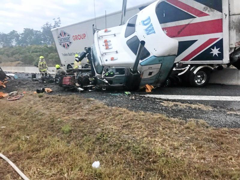 Truck crash at Glenugie on Thursday, July 27 at approximately 5am