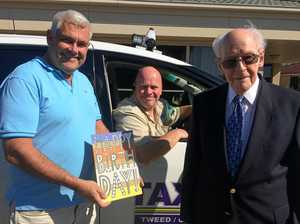 Tweed centenarian celebrates big day with taxi drivers